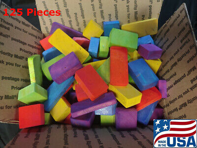 125 Large Wooden Foot Toys for Parrot Toys Bird Toy Cockatoo African Grey Amazon
