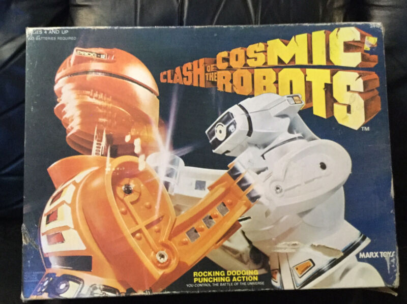 Rare Vintage Marx 70s CLASH OF THE COSMIC Rock