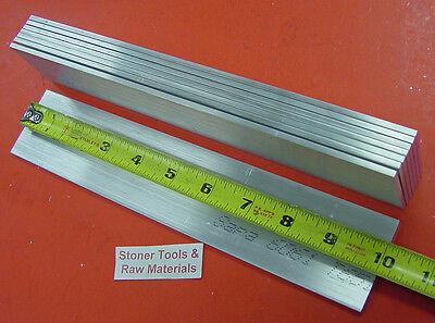 8 Pieces 18 X 2 Aluminum 6061 Flat Bar 10 Long .125 T6511 Plate Mill Stock