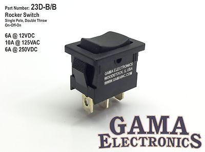 Mini 10 Amp Rocker Switch 3 Position Single Pole Double Throw On-off-on