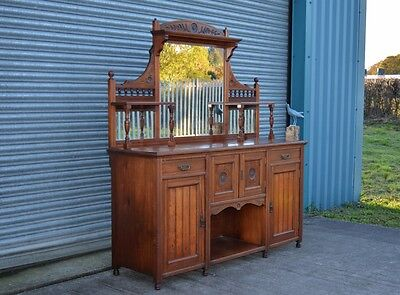 Large Antique Mahogany Sideboard Dresser Chiffonier Drinks Cabinet