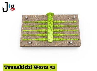 "Forms for making soft plastic baits Tsunekichi Worm 2"" 51 mm х 10 places"