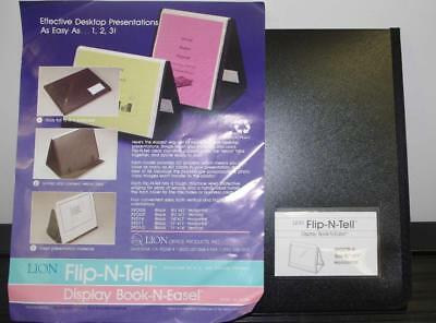 Lion Flip-n-tell 40 Chart Display Book-n-easel 8.5x11 39008-h