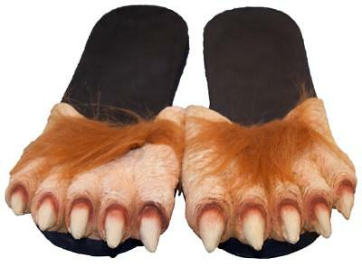 LARGE HAIRY WEREWOLFT FEET  sandals costume big foot shoes WERE WOLF slippers - Hairy Feet