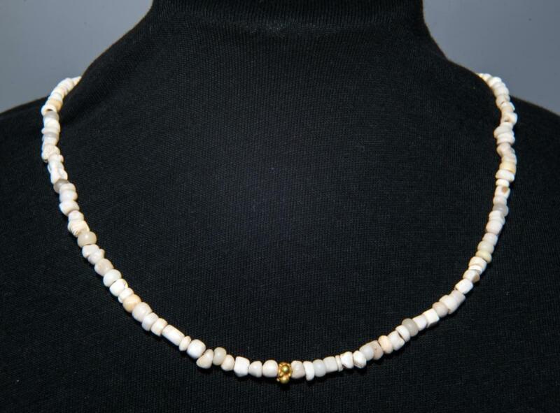 Ancient Near East Lapis Lazuli Bead Necklace: 1st millennium BC.