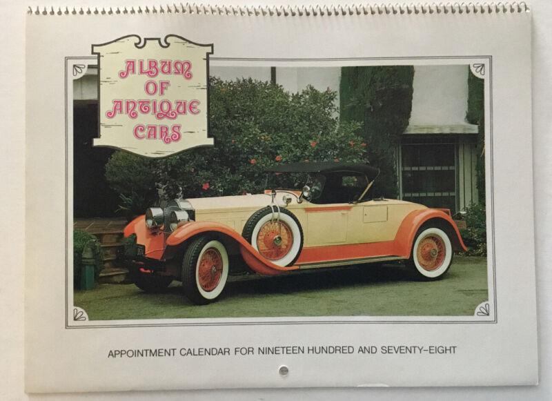 Vintage, Album Of Antique Cars, 1978 Calendar.