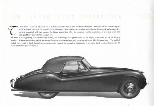 "JAGUAR ""XK 120 Convertible"" - 3.4 Litre - 1949 - British sales brochure, folder"