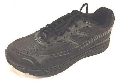 Mens Walmart Sz 8 1/2 Wide Athletic Shoes Black Light Weight NWT Walking Running - Walmart Black Light