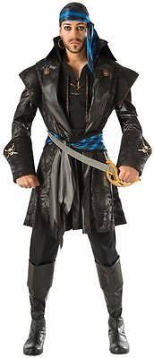 Men's Captain Blackheart Pirate Costume Pirates of the Caribbean Size Standard - Captain Blackheart Costume