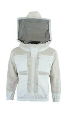 Bks Ultra Ventilated 3 Layer Bee Beekeeping Beekeeper Jacket Round Veil 2xl