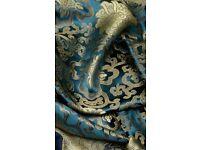 Fully Stitched Teal & Gold Banarasi Suit - Zee.H.M Fashion