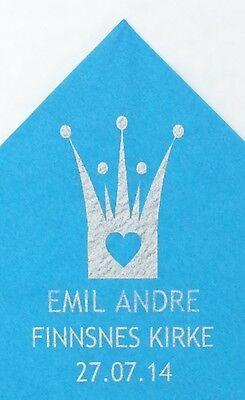 Bedruckte Papier-servietten (100 Hochzeit personalisiert bedruckt Papierservietten Empfang Feier Serviette)