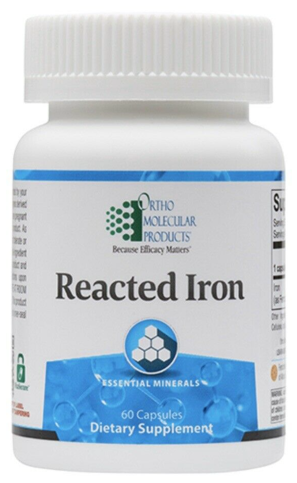 Ortho Molecular Reacted Iron 60 Capsules