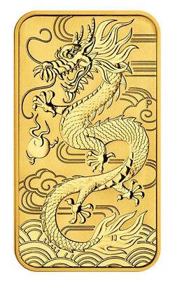 2018 $100 1oz Gold Australian Bullion Dragon Rectangular Coin (Bar) .9999
