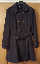Dark grey military-style coat