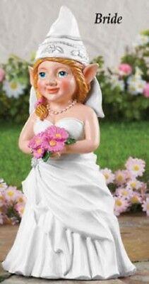 Bride Garden Knome Gnome Statues Bridal Shower Gift Idea Fun Wedding - Bridal Shower Decoration Ideas