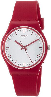 Swatch Men's Puntarossa Analog Quartz Red Plastic/Silicone Watch GR172