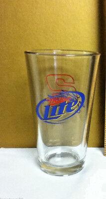 Miller Lite Milwaukee WI Rusty Wallace Nascar racing #2 beer pint glass LO5