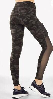 Fabletics Women's Printed Powerhold Mila High Waisted Leggings Camo - Medium