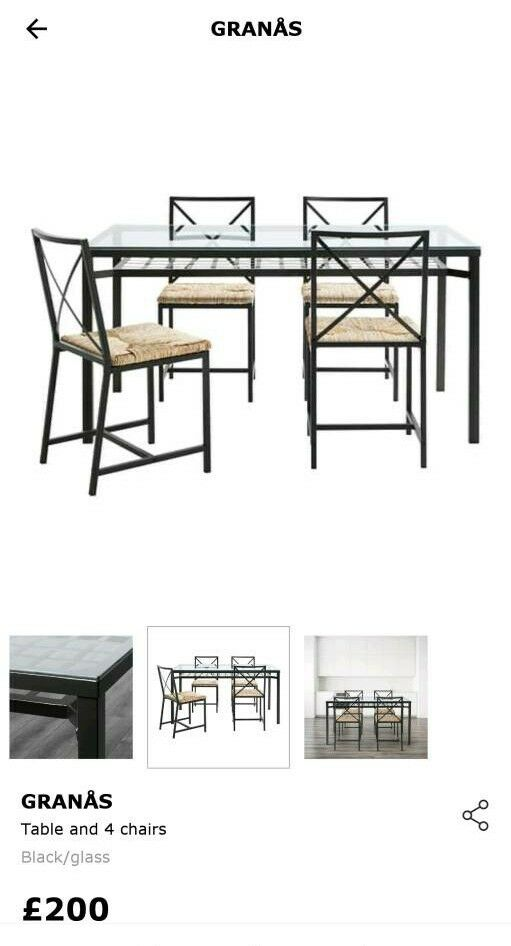 Fine Table Ikea Granas And 4 Chairs In Clapham Junction London Gumtree Beutiful Home Inspiration Aditmahrainfo