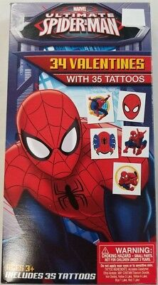 ULTIMATE SPIDERMAN 34 VALENTINES WITH 35 TATTOOS VINTAGE