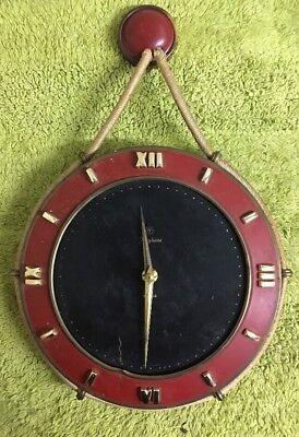 Vintage Junghans Exacta Hanging Wind Up Wall Clock