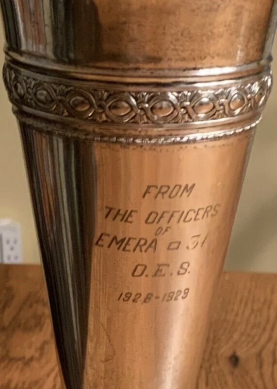 Rare Old Antique Trophy Silver Plate 1929 - 1930's Emera Loving Cup