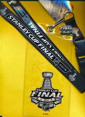 2018 Stanley Cup Golden Knights Capitals Ticketholder  Lanyard   I Was There Pin