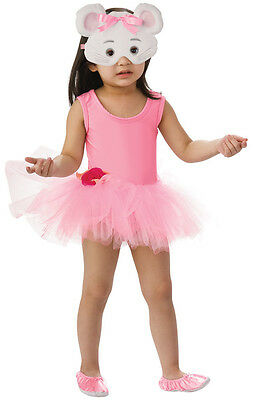 ANGELINA BALLERINA COSTUME 7-8 YEARS OLD WITH FACE MASK HALLOWEEN COSTUME - 8 Year Old Costumes Halloween