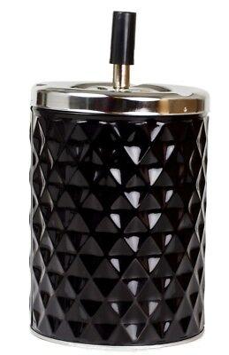 XXL Drehascher Aschenbecher Diamant schwarz