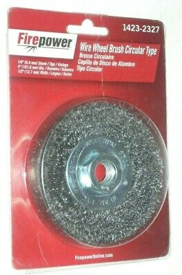 Victor Firepower 1423-2327 Crimped Wire Wheel 4 X 58-11 For Grinders 12 Thick
