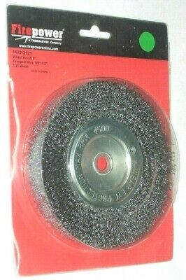 Victor Firepower 1423-2121 Crimped Wire Wheel Brush 6 X 58-12 X 12 Wide