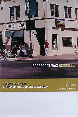 Scapegoat Wax 2001 Okeeblow Original Tour Promo Poster