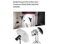 Durable Camera 33 inch 83cm Inch Translucent Photo Studio flash Soft Umbrella