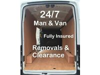 24/7 Man & Van - Room/House/Office Removal - Clearance - Last Minute Bookings - All London