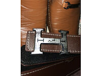 Mens Hermes leather belt