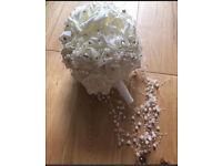 C stunning artificial ivory wedding bouquet