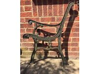 Cast iron bench ends with love heart