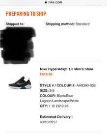 Nike HyperAdapt 1.0 Blue Lagoon UK9.5