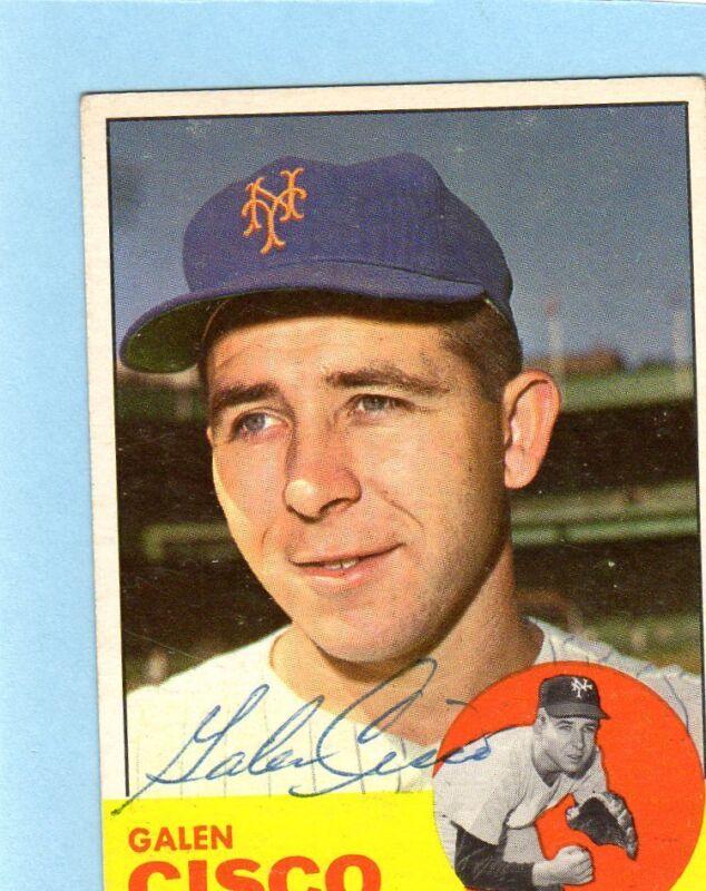 1963 Topps Signed Card JSA COA $29.99 Each Bill Vernon/Roy Face/ Pirates/Cisco