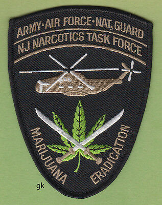 New Jersey NARCOTICS MARIJUANA ERADICATION HELICOPTER ARMY  AIR FORCE DRUG PATCH