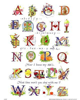 Nursery Rhyme Abcs Song   8X10 In  Childrens Art Print