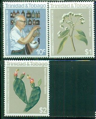 Trinidad   Tobago Sc358 60 Sg600 02 Mnh 1982 Pharmaceutical Conf  Set Of 3 Scv 7