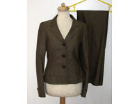 ESCADA gorgeous brown trouser suit sz 12 from NEIMAN MARCUS