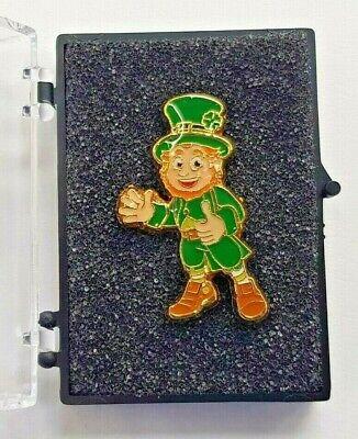 St. Patrick's Day Leprechaun Enamel Pin Badges Includes Box
