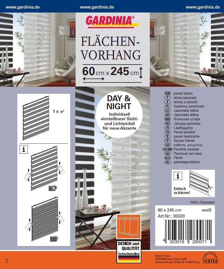 gardinia fl chenvorhang day night 60x245 cm gardine vorhang sichtschutz eur 25 12. Black Bedroom Furniture Sets. Home Design Ideas