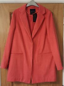 New Look pink oversized coat