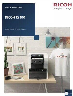 Anajet Ricoh Ri 100 Dtg Direct To Garment Printer 4 T-shirt Apparel Printing