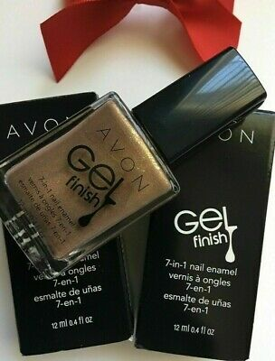 Avon GEL finish 7-in-1 Nail Enamel/Nail Polish {COLOR: GLIMMER} LOT OF 2 BOTTLES