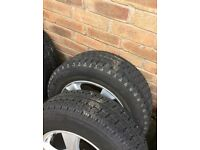 4 VW T5 BK RACING WHEELS AND TYRES